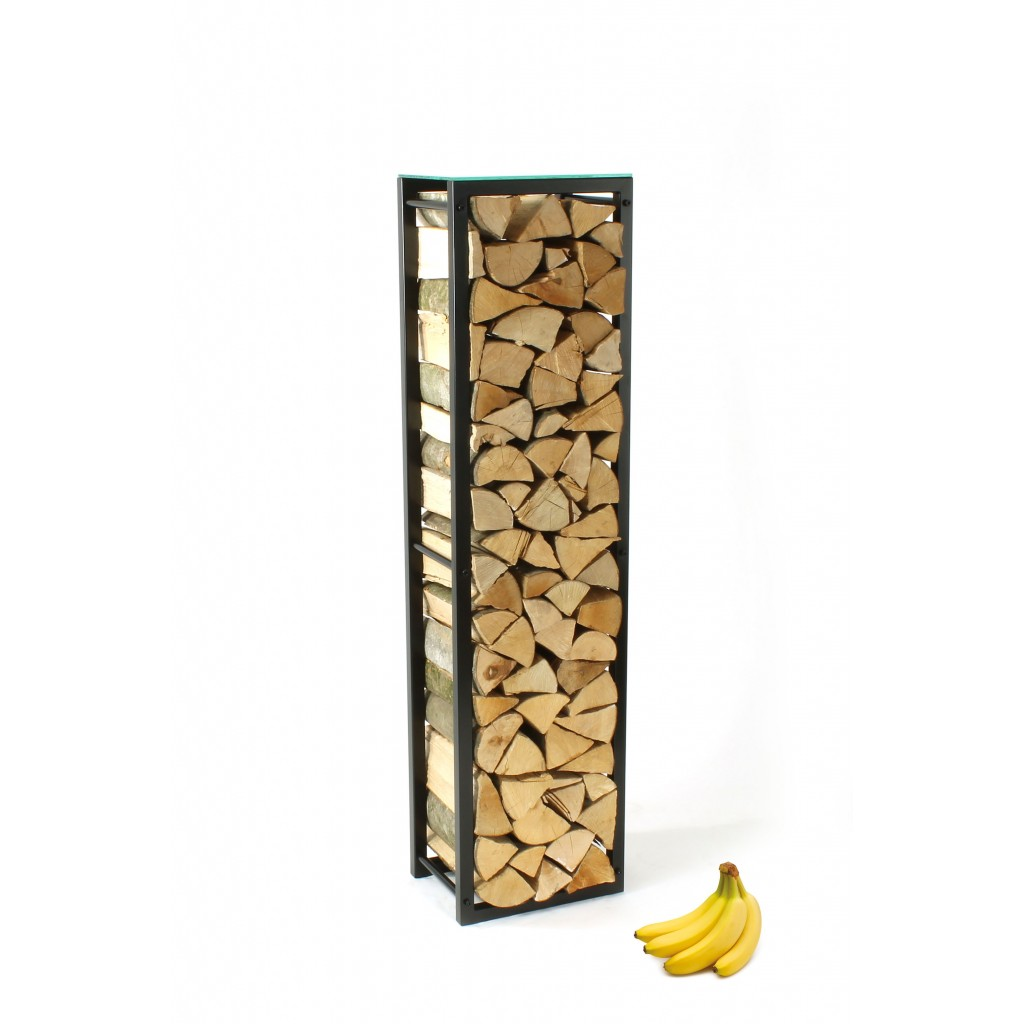 Firewood Rack Tower 150 Basic With A Frosted Glass Top