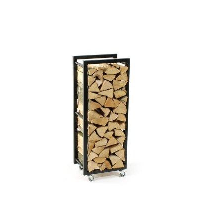 Firewood Rack Tower 95 Basic on wheels