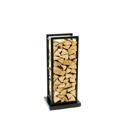 Firewood Rack Tower 95 Basic on hidden wheels