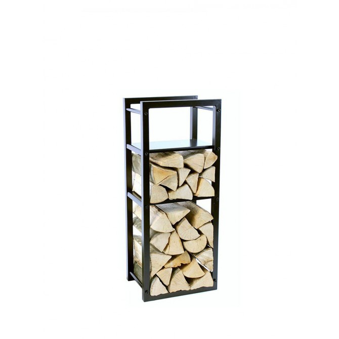 Firewood Rack: Tower 95 Basic divided into three sections