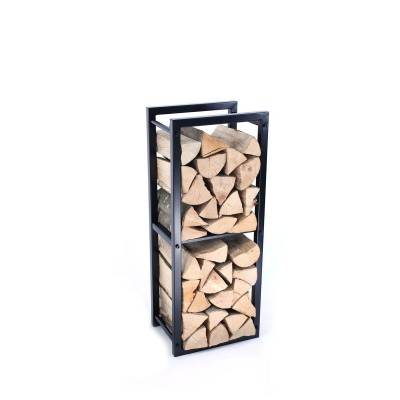 Firewood Rack: Tower 95 Basic with a dividing shelf