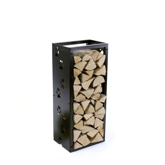 Firewood Rack: Tower 95 Basic with 'Wolf Paws' sideboards