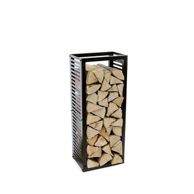Firewood Rack Tower 95 Basic with stripped sideboards