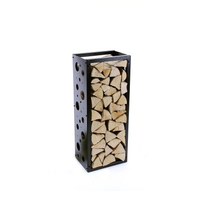 Firewood Rack: Tower 95 Basic with bubbles sideboards