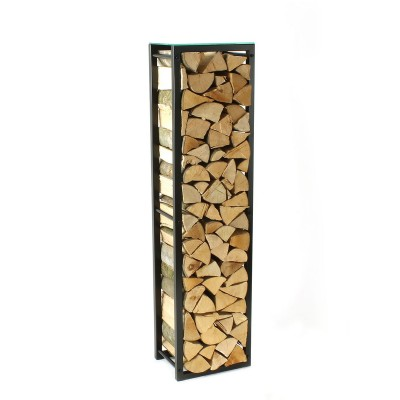 Firewood Rack: Tower 150 Basic with a clear glass top shelf