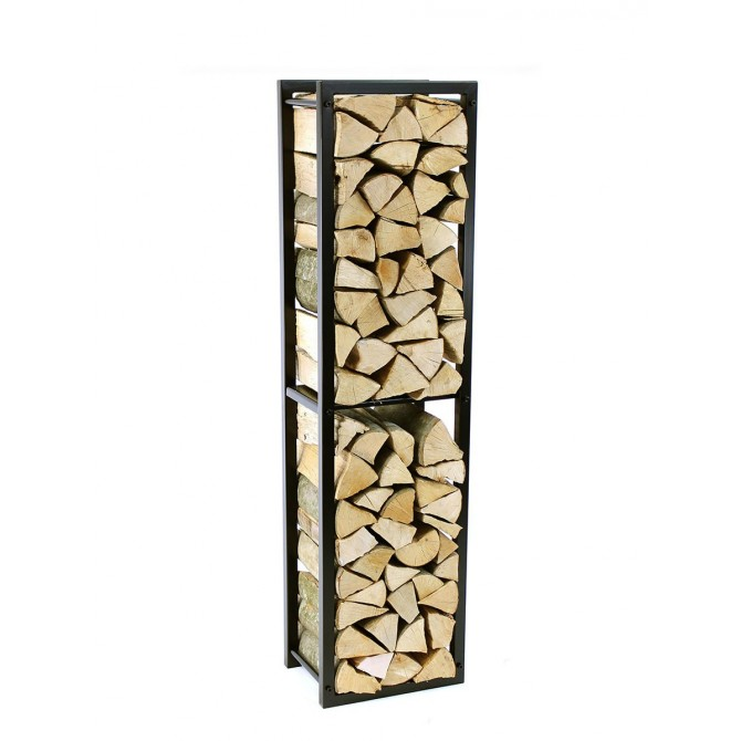 Firewood Rack Tower 150 Basic with a dividing shelf