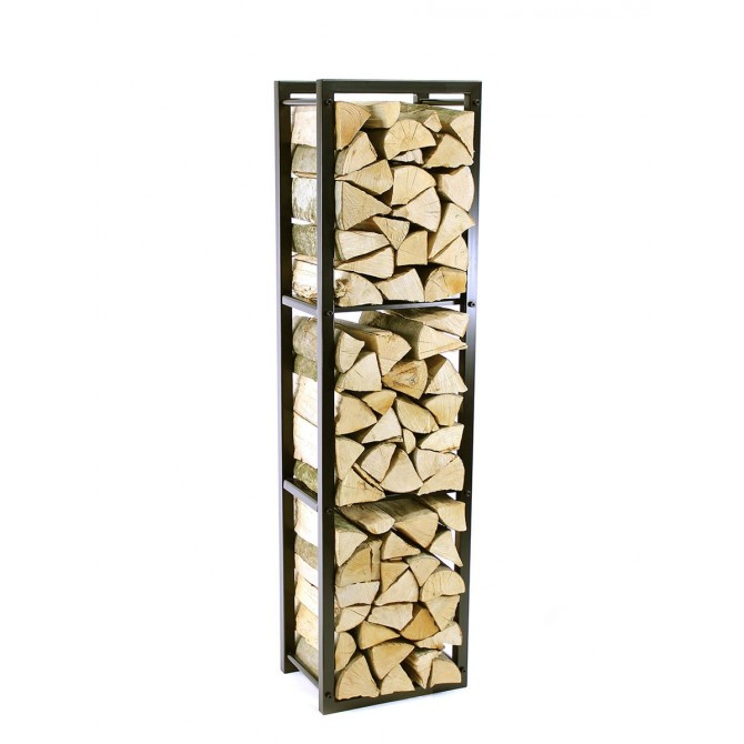 Firewood Rack Tower 150 Basic divided into three sections