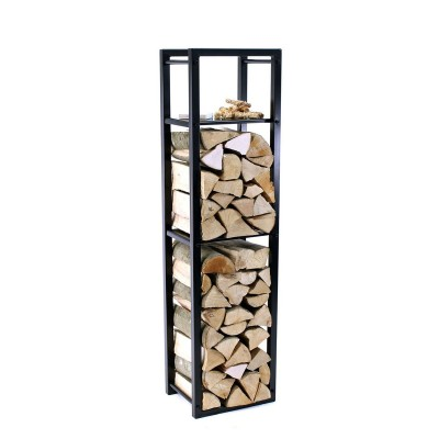 Firewood Rack Tower 150 Basic divided into three different sections