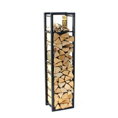 Firewood Rack Tower 150 Basic with a shelf for fire starters