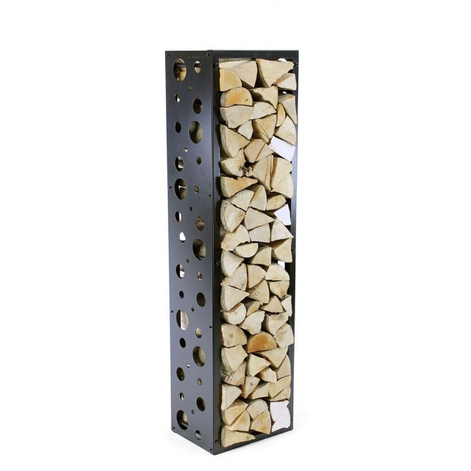 Firewood Rack Tower 150 Basic with bubbles sideboards