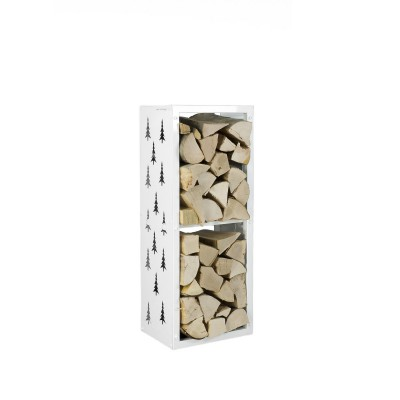 Firewood Rack: Tower 95 Nordic Tree (White)