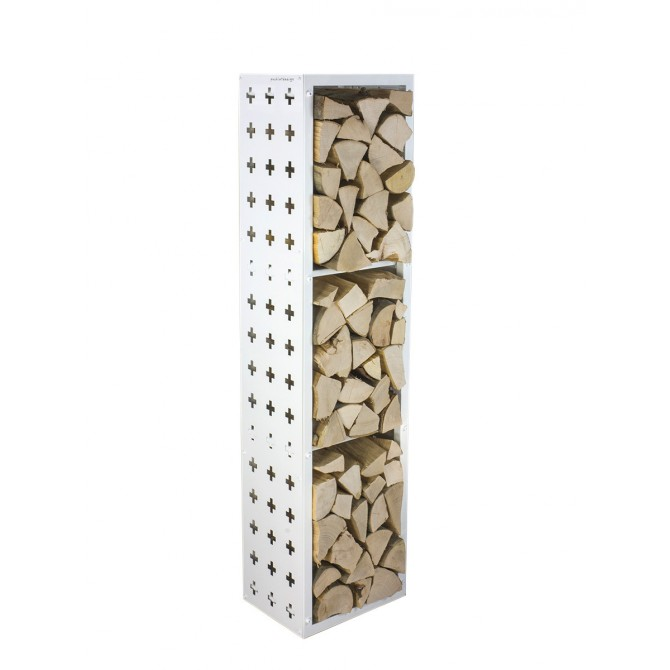 Firewood Rack: Tower 150 Basic divided into three sections