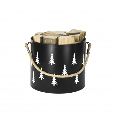 Bucket: Basket with one handle Nordic Tree (Black)