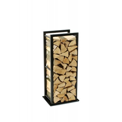 Firewood Rack: Tower 95 Basic with a tin debris tray